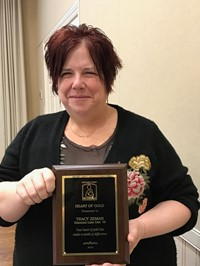 Ms. Zeman Awarded the Heart of Gold